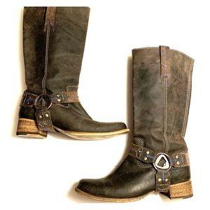 "Bed Stu ""Opal"" distressed tall riding boots"